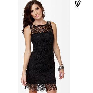 B.B. Dakota Black Lace Morrow Dress